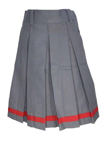 Girls Grey School Skirt