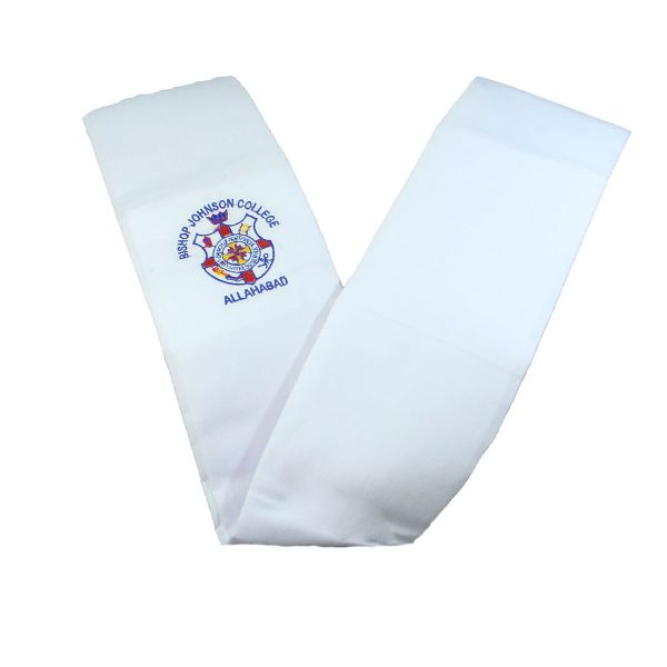 Girls White School Dupatta