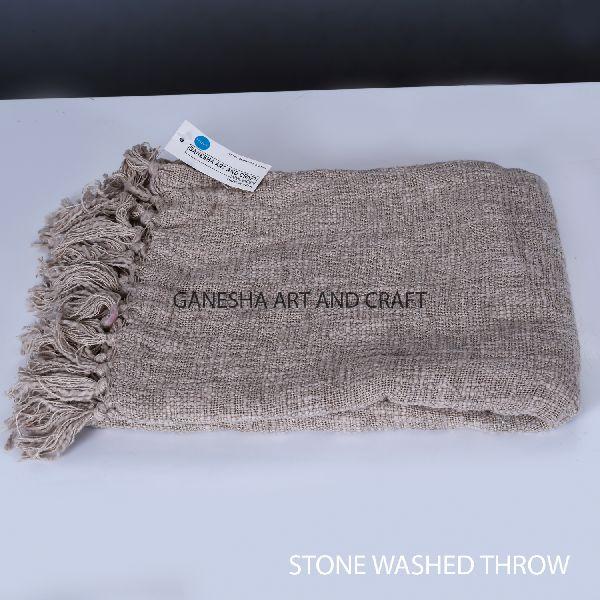 Dark Cream Throw Blanket
