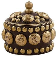 Brass Kumkum Box