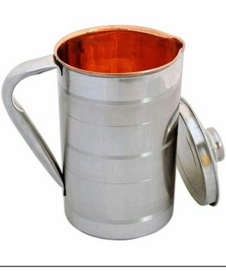 Steel & Copper Water Jug