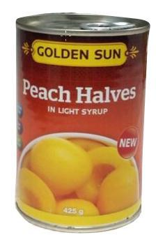 Canned Peach Halves