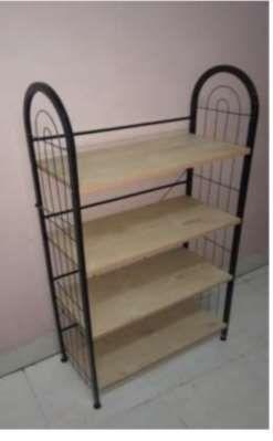 4 Shelf Wooden Shoe Rack
