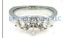 0.50 Ct Diamond & 18KT White Gold Semi Mount Ring