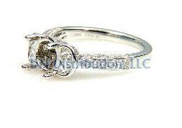 0.70 Ct Diamond & 18KT White Gold Semi Mount Ring