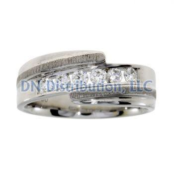 .40 Ct Diamond & 18KT White Gold Mens Ring