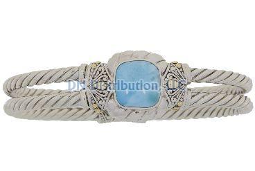 Sterling Silver Larimar Bangle Bracelet