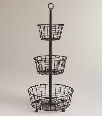 GI-022 Iron Wire Basket Stand