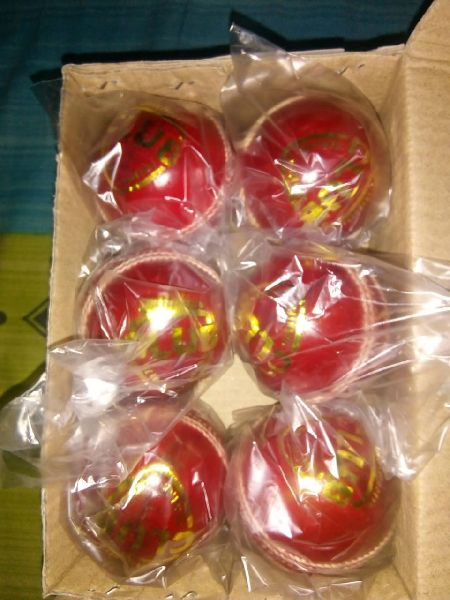 20 to 25 Over Red Leather Cricket Ball