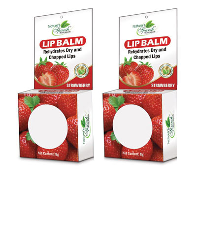 Nature\'s Sparsh Lip Balm with Strawberry