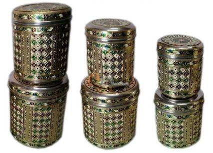 Handicraft Meenakari Steel Box