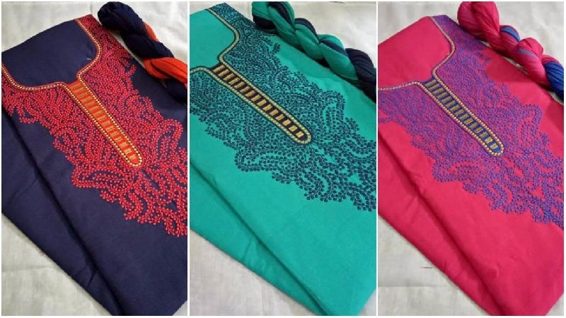 Embroidered Suit Material