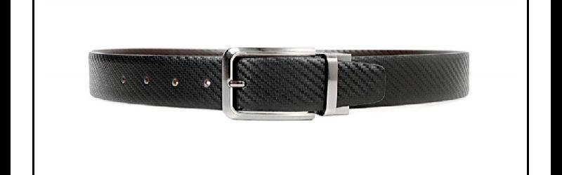 Mens Pure Leather Reversible Black Belts