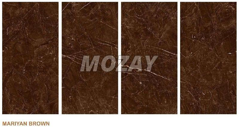 Mariyan Brown High Glossy Glazed Vitrified TIle