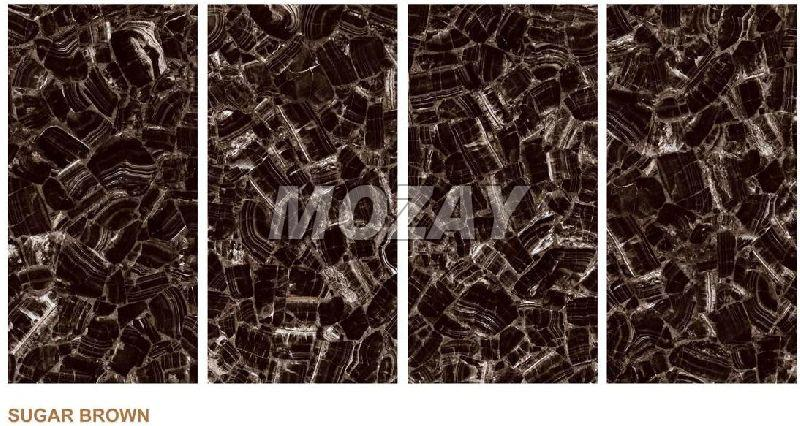 Sugae Brown High Glossy Glazed Vitrified TIle