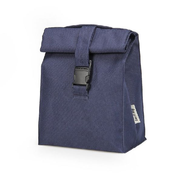 Blue Leather Picnic Bag