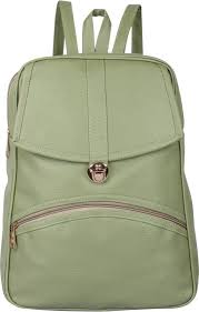 Green Leather Picnic Bag