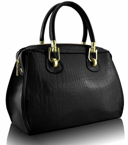 Ladies Black Leather Handbag