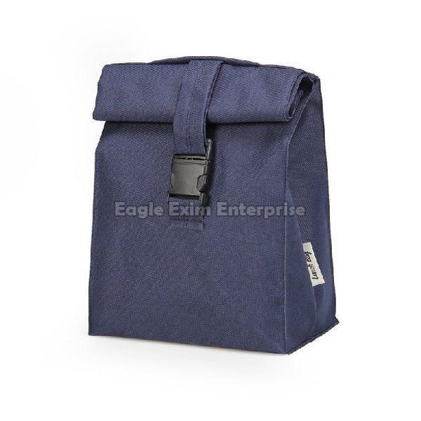 Blue Leather Picnic Bag