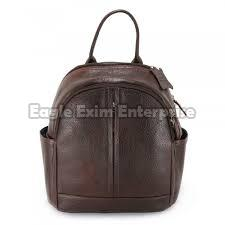 Brown Leather Picnic Bag