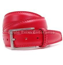 Ladies Red Leather Belt