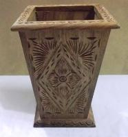 Wooden Carving Flower Pot
