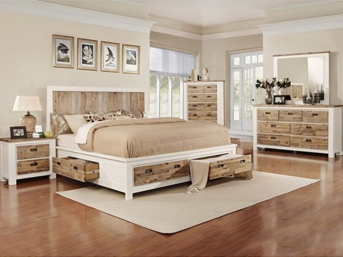 Wooden Drawer Bed