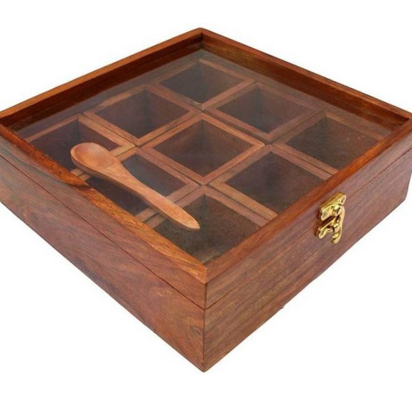Wooden Spices Box