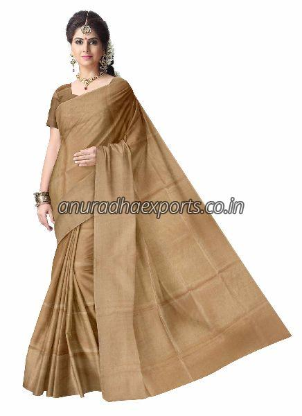 Plain Tissue Saree