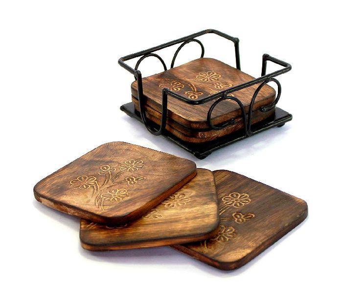 Wooden Square Tea Coaster