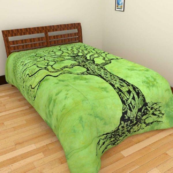 Cotton Printed Single Bedsheet