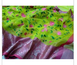 Kora Silk Banarasi Saree