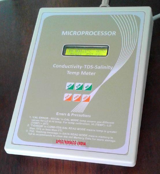 SI-198 Microcontroller Based Digital Conductivity TDS Salinity Temp Meter