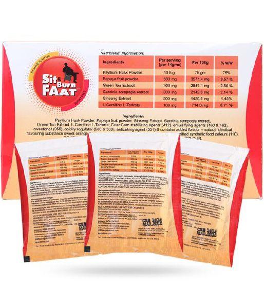 Sit & Burn Faat Nutritional Supplement
