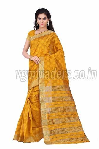 Party Wear Cotton Saree