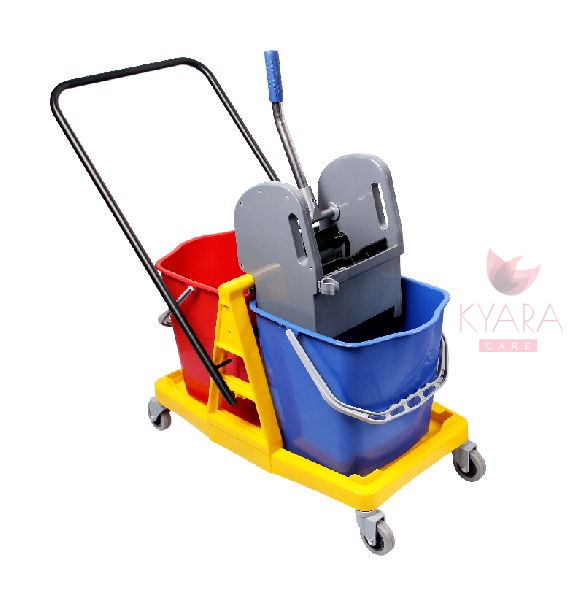 Double Bucket Wringer Trolley 01