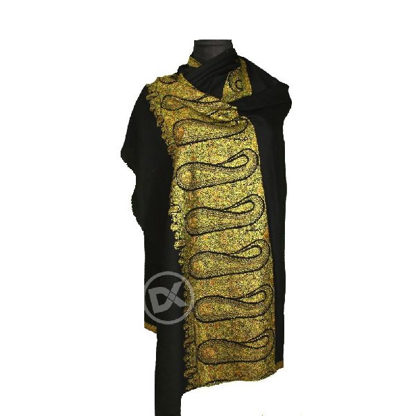 Embroidered Woollen Shawl