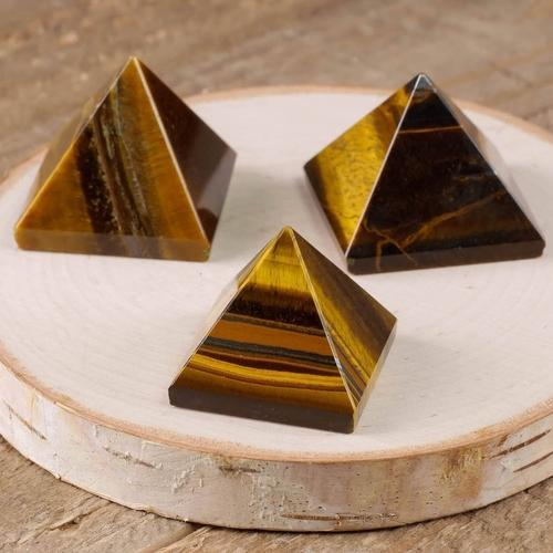 Tiger Eye Pyramid