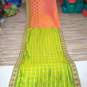 Light Green Embroidered Sarees