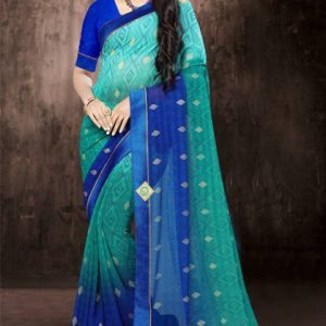 Marble Check Printed Saree