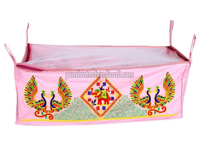 Embroidered Ring Baby Cotton Jhula