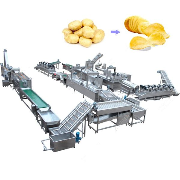 Fully Automatic French Fries and Potato Chips Making Plant