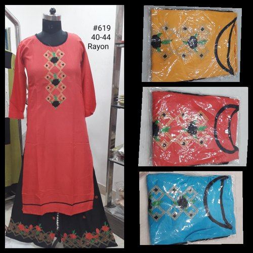 Ladies Rayon Palazzo Suit
