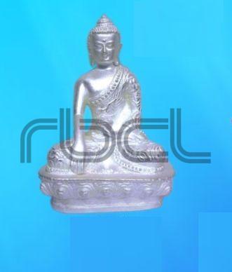 999 Silver Buddha Statue
