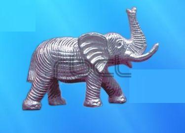 999 Silver Elephant Statue