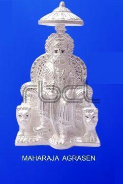 999 Silver Maharaja Agrasen Statue