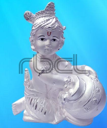 999 Silver Makhan Chor Statue