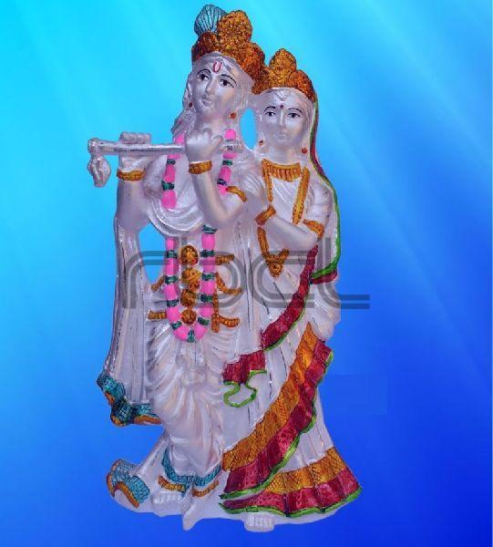 999 Silver Radha Krishna Statue