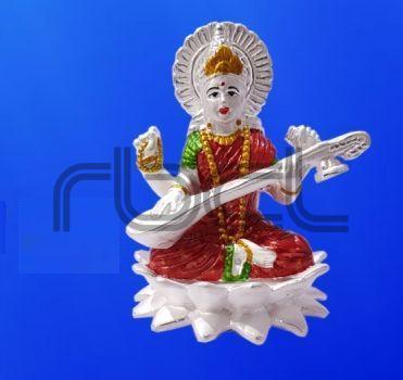 999 Silver Saraswati Statue