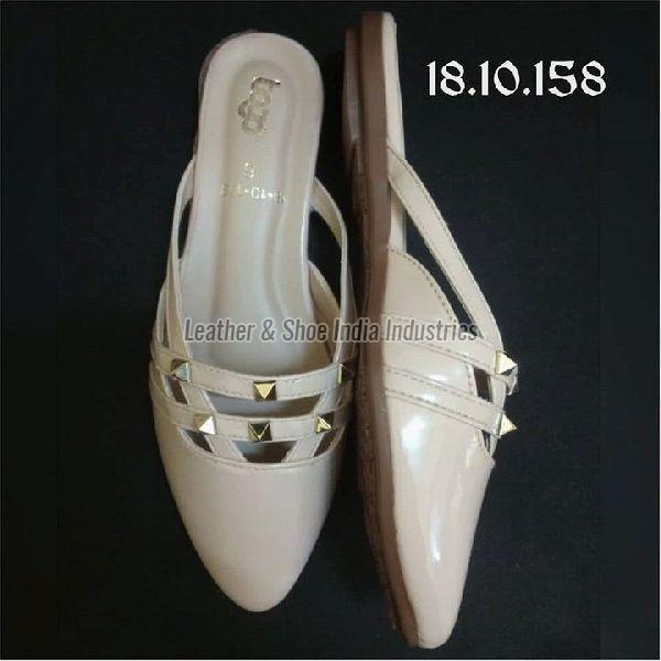 Ladies Beige Half Shoes